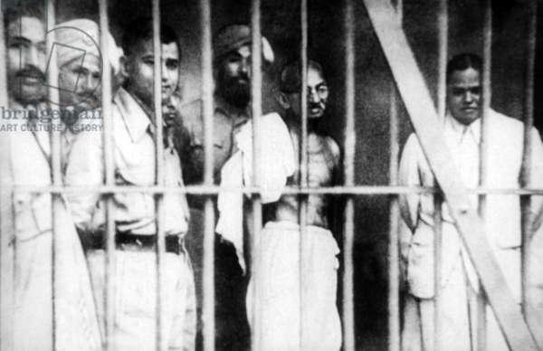 India: India: Mohandas Gandhi with political prisoners at Dum Dum, Calcutta, 29 March 1938