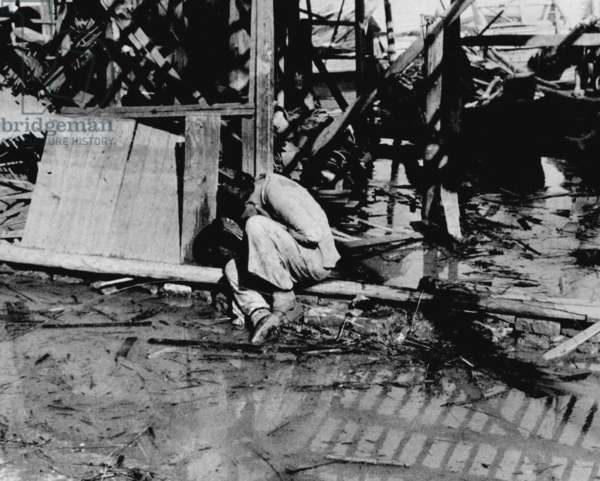 China: After a Japanese air raid, Hankou, July 1938.