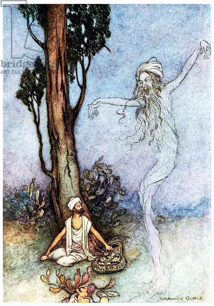 UK: 'The Fakir's Ghost', Warwick Goble (1862-1943), 1912