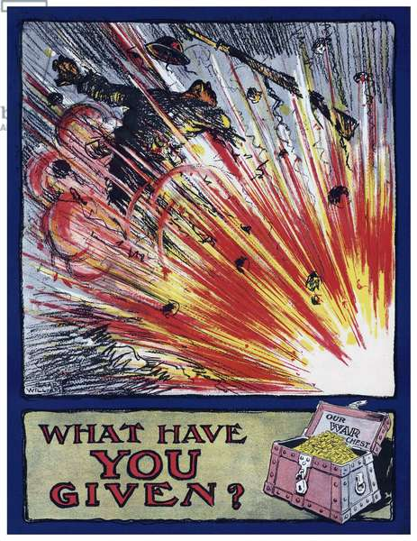 USA:  'What Have You Given?'. First World War propaganda poster, c. 1917