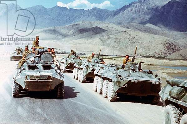 Afghanistan: Pullout of Soviet troops from Afghanistan, 1988.