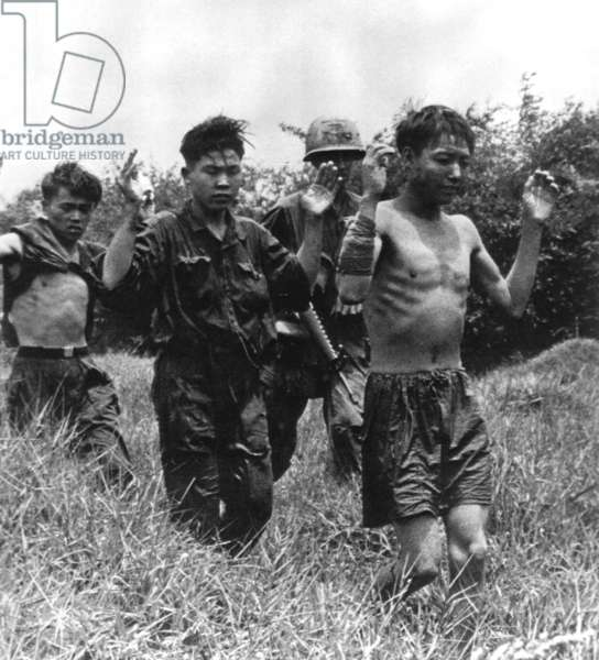 Vietnam: Suspected communist insurgent prisoners of war captured during the 1968 Tet Offensive.