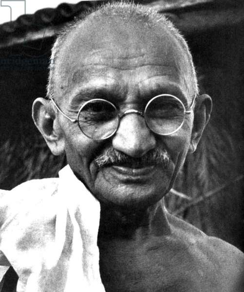 India: Mohandas Karamchand Gandhi (1869-1948), pre-eminent political and ideological leader of India's independence movement