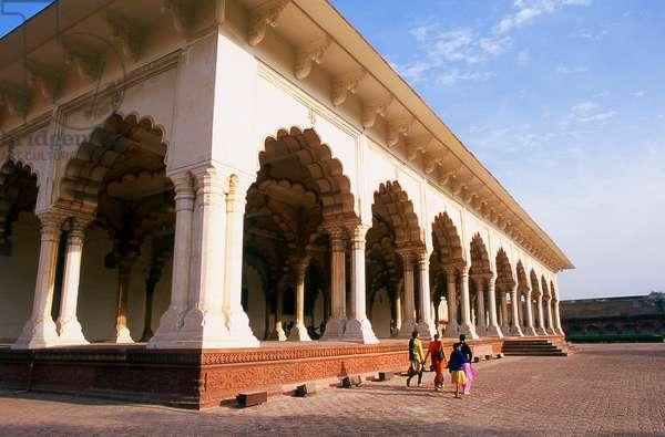 India: Diwan-i-Am (Hall of Public Audience), Agra Fort, Agra, Uttar Pradesh