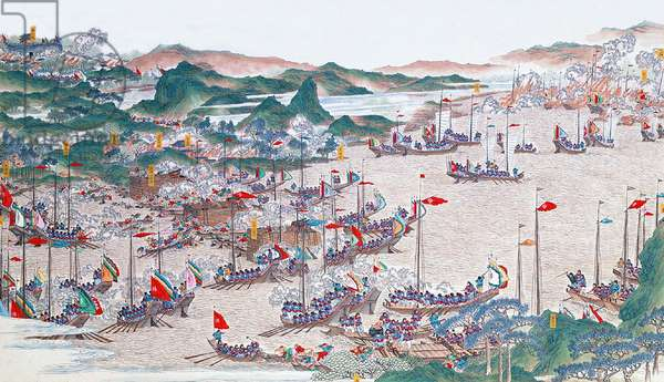 China: Qing forces 'destroying bandit layers in Tianjiazhen' and recapturing Qizhou (Taiping Rebellion, 1850-1864)