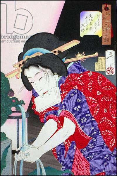 Japan: The appearance of a Concubine in the Bunka Era. Tsukioka Yoshitoshi (1839-1892)