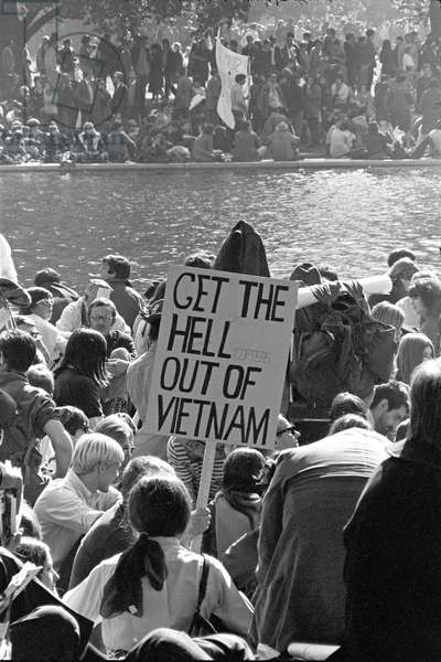 USA / Vietnam: 'Get The Hell Out of Vietnam'. Anti Vietnam War protest, Washington DC, 21 October 1967