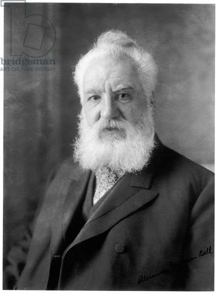 UK-Scotland: Alexander Graham Bell (1847-1922), Scottish scientist, inventor and engineer. USA, c. 1918
