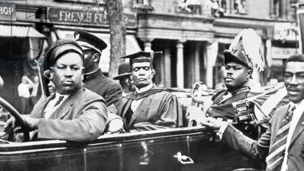 Jamaica: Marcus Garvey (1887-1940), Pan Africanist and Jamaican national hero,  dressed as the 'Provisional President of Africa', New York, 1923