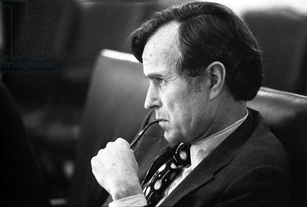 USA: George H. W. Bush (1924 - ) future 41st President of the United States, during his time as Director of the CIA (1976 - 1977), David Hume Kennerly, 17 June 1976