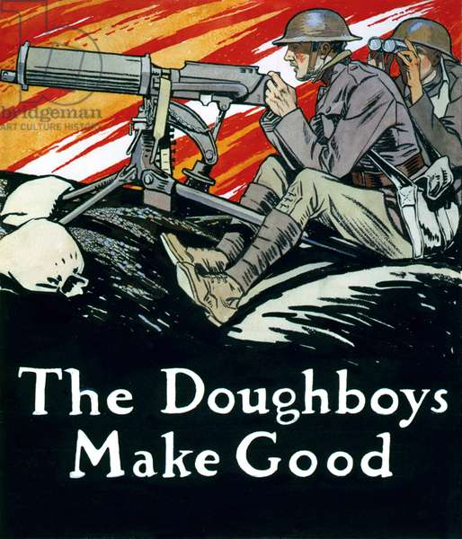 USA: 'The Doughboys Make Good', watercolour, Edward Penfield (1866-1925), 'Colliers Magazine', 10 August 1918