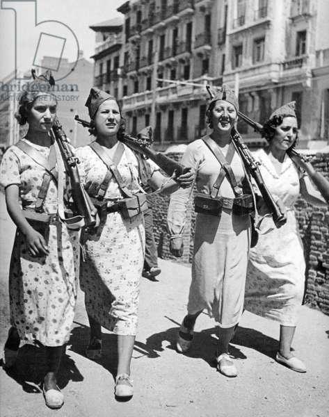 Spain: Republican women fighters, Spanish Civil War (1936-1939), 1937