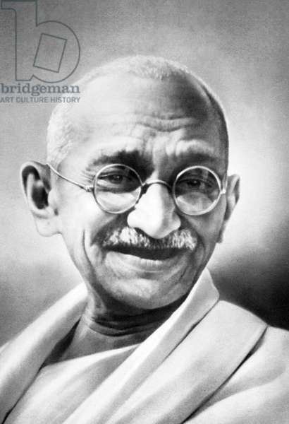 India: Mohandas Karamchand Gandhi (1869-1948), pre-eminent political and ideological leader of India's independence movement.