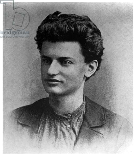 Russia: Leon Trotsky, founder and first leader of the Red Army, as an 18 year old in 1897
