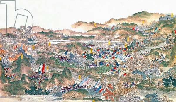 China: Qing forces 'destroying bandit layers at Tongcheng' (Taiping Rebellion, 1850-1864)