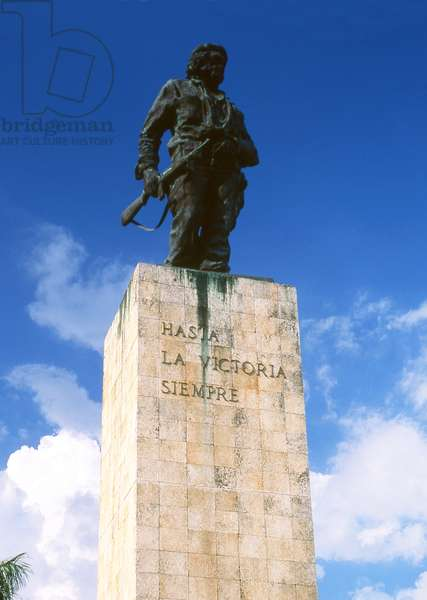 Cuba: The Che Guevara Mausoleum, a monument dedicated to the memory of Argentinean revolutionary Che Guevara, Santa Clara, Villa Clara Province. It contains the remains of Guevara and twenty-nine of his fellow combatants killed in 1967