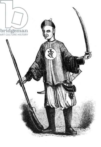 China: A Chinese swordsman, First Opium War, 1839-1842
