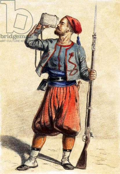 France /Algeria: A French North African Zouave, late 19th century