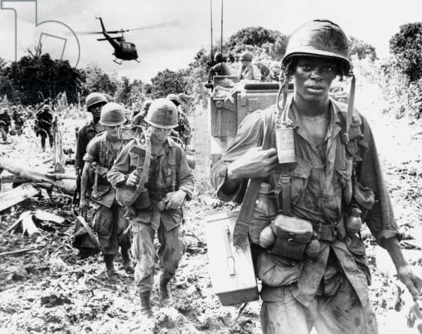 Vietnam: US soldiers on a search-and-destroy patrol in Phuoc Tuy province, South Vietnam, June 1966