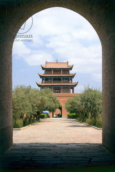 China: Guanghua Men (Gate of Enlightenment), Jiayuguan Fort, Jiayuguan, Gansu