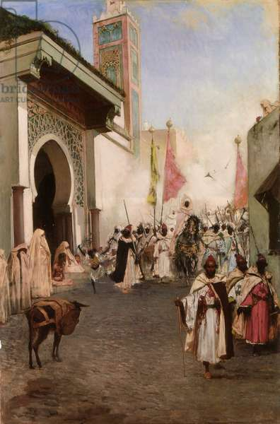 The Entry of Mahomet II into Constantinople (oil on canvas)
