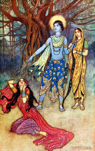 UK: 'Rama Spurns Suparnakha', Warwick Goble (1862-1943), 1912