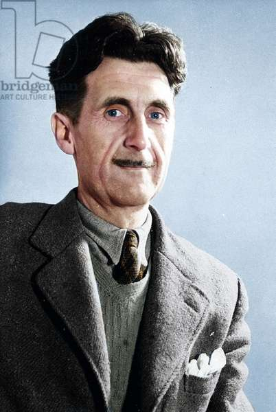 UK / Britain: Eric Arthur Blair (25 June 1903 – 21 January 1950), better known by his pen name George Orwell, was an influential English author and journalist, c. 1940