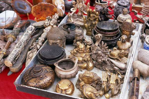 China: Handicrafts and souvenirs for sale within the Jiayuguan Fort, Gansu Province
