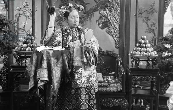 China: Official portrait of Empress Dowager Cixi (1835-1908) by court photographer Yu Xunling, c. 1895