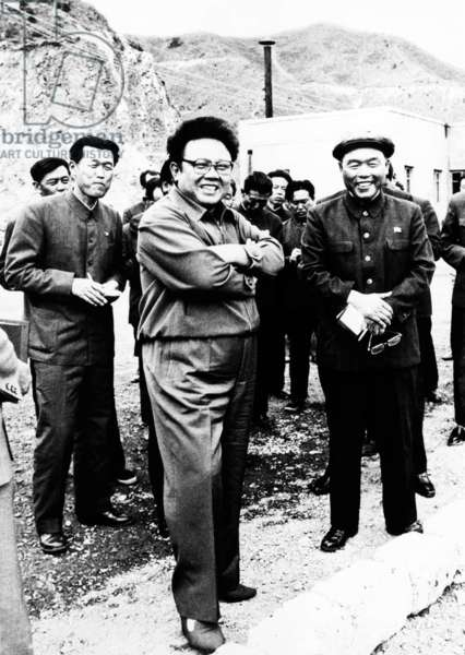 Korea: North Korean leader Kim Jong Il on an inspection tour at a mine in 1992, two years before succeeding his father, Kim Il Sung, as supreme leader