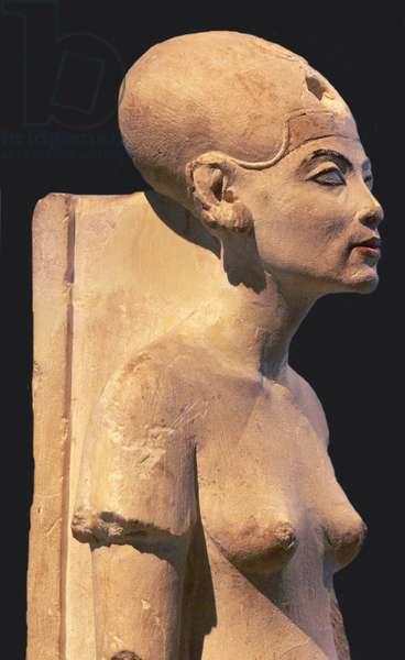 Egypt: Nefertiti (1370 BC - c. 1330 BCE), Great Queen of Pharaoh Akhenaten of the 18th Dynasty (r.c. 1351-34 BCE).
