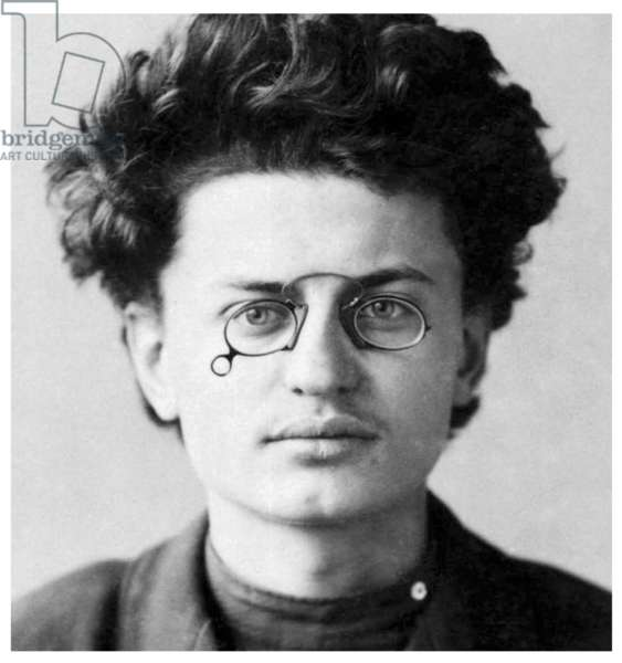Russia: Leon Trotsky, founder and first leader of the Red Army, aged 21 in a police mug shot, 1900
