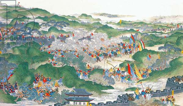 China: Qing forces lifting the siege of Yuhuatai (Taiping Rebellion, 1850-1864)