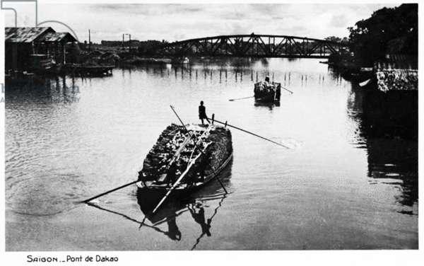 Vietnam: Cầu Sắt Đa Kao, Graham Greene's 'Dakow Bridge' in Saigon (now Ho Chi Minh City), c. 1925
