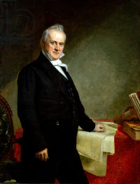 USA: James Buchanan (1791 - 1868) was the 15th President of the United States, serving from 1857 to 1861. Oil on canvas, George Peter Alexander Healy (1818-1894), 1859