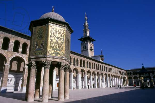 Syria: The Treasury Dome and central courtyard, Umayyad Mosque, Damascus