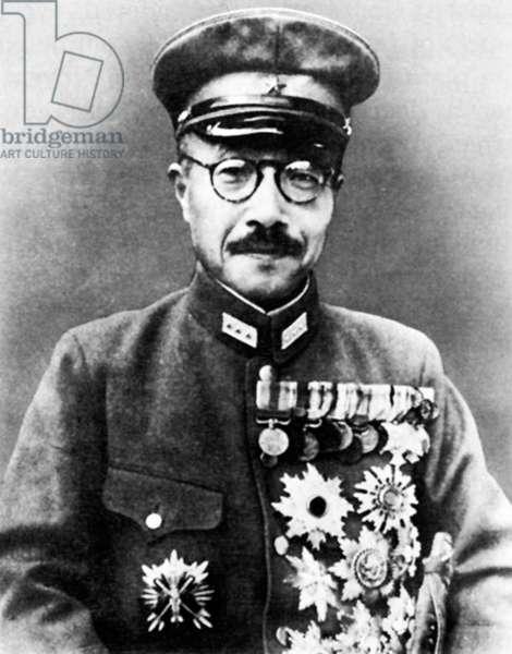 Japan: Hideki Tojo (1884-1948), Prime Minister of Japan 18 October 1941 - 22 July 1944.