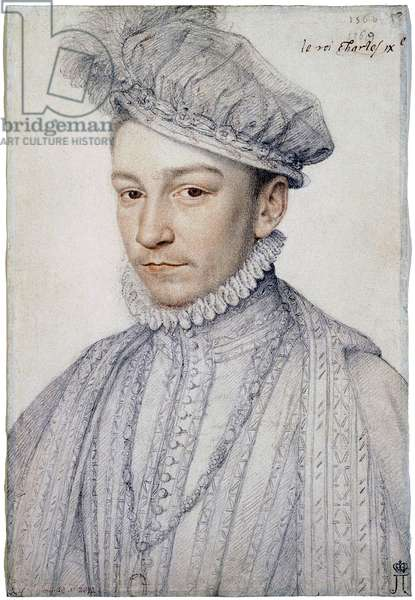 Portrait of the French King Charles IX (1550-1574), 1566 (drawing)