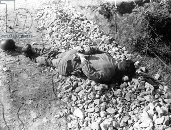 Korea: Soldier of the US 21st Infantry Regiment, 24th Division, captured and executed by North Korean forces, 1950