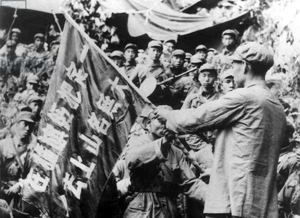 Korea: Troops of the Chinese People's Volunteer Army in Korea somewhere in North Korea c. 1951