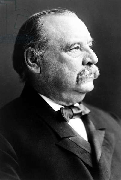USA: Grover Cleveland (1837 – 1908) was the 22nd and the 24thth President of the United States, serving from 1885 to 1899 and from 1893 to 1897. Photographic portrait, Frederick Gutekunst (1831-1917) 1903