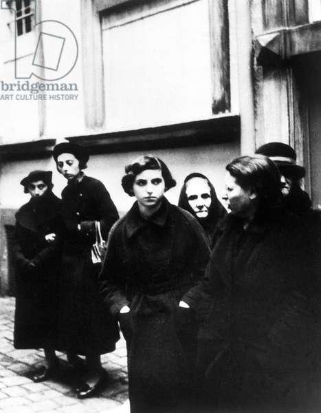 Germany: Jewish women arrested during the Kristallnacht pogrom, Erlangen, November 1938