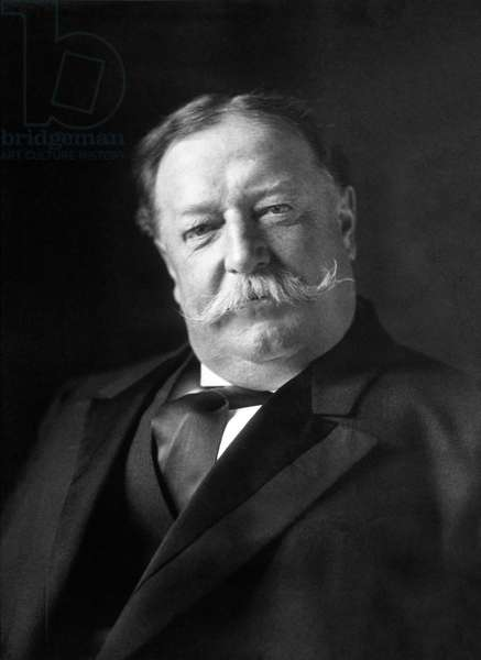 USA: William Howard Taft (1857 – 1930) was the 27th President of the United States, serving from 1909 to 1913. Photographic portrait, March 1909