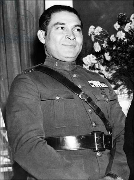 Cuba: The Cuban dictator Fulgencia Batista, Havana, March 1952
