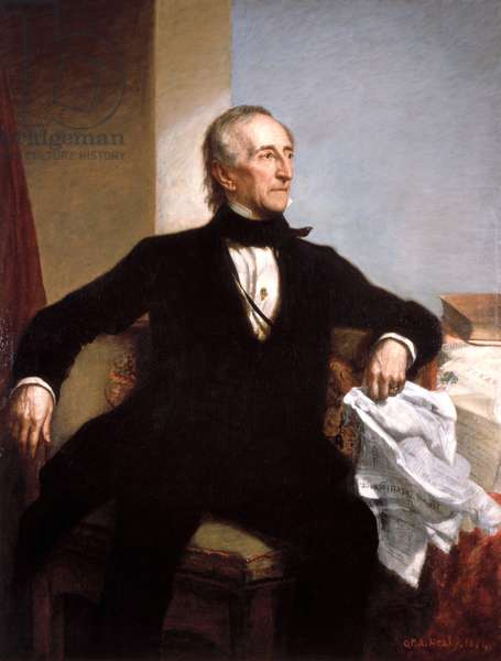 USA: John Tyler (1790 – 1862) was the 10th President of the United States, serving from 1841 to 1845. Oil on canvas, George Peter Alexander Healy (1818-1894), 1859