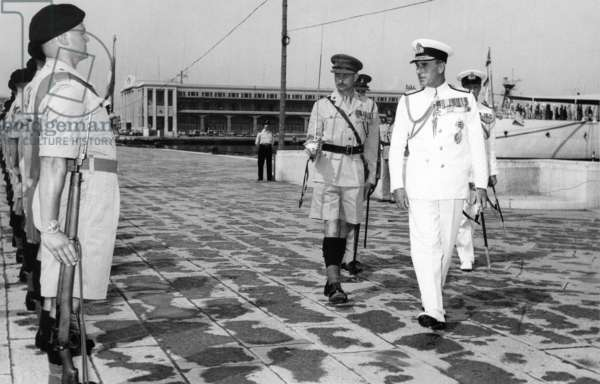 India: Admiral Louis Mountbatten, Viceroy of India 12 February 1947 - 15 August 1947, reviewing troops.