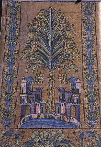 Syria: Mosaic on the Treasury Dome, Umayyad Mosque, Damascus