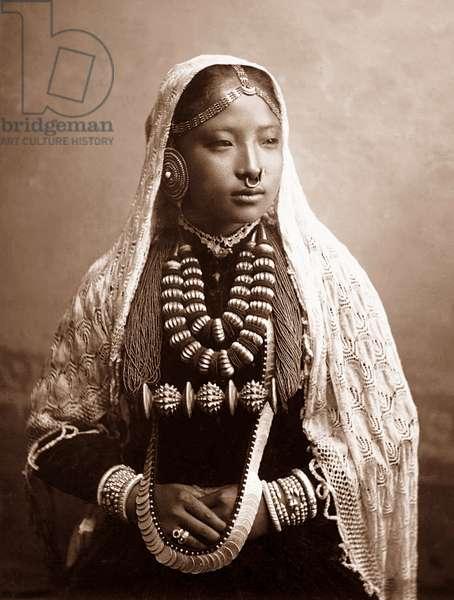 Nepal-India: 'Nepaly Lady', Theodor Paar, Darjeeling, c. 1900