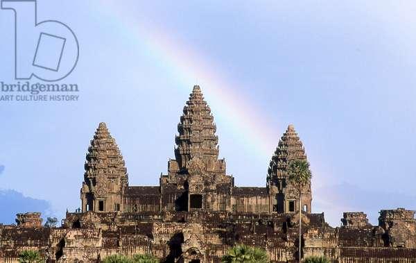 Cambodia: Rainbow over Angkor Wat