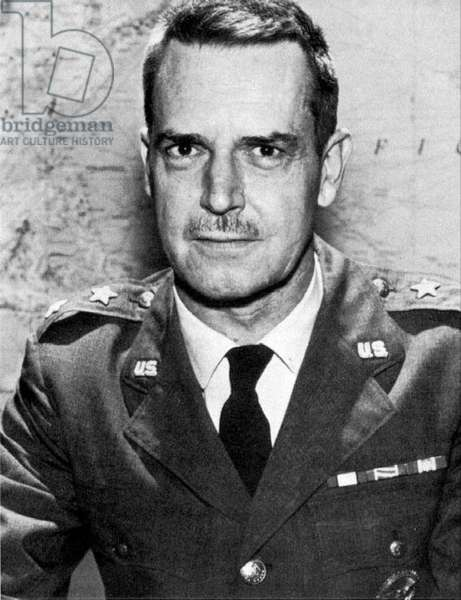 USA: Major General Edward Geary Lansdale (1908-1987), considered by some to have been the model for Graham Greene's 1955 novel 'The Quiet American'.